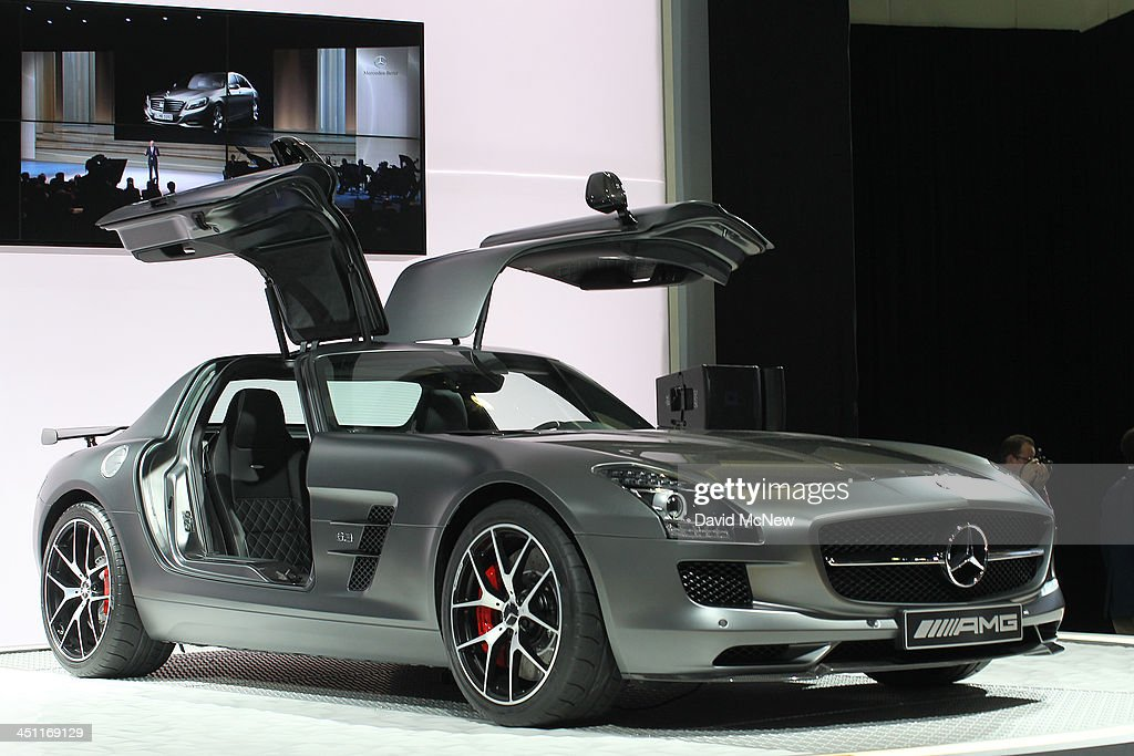 A Mercedes-Benz SLS AMG GT concept is displayed during media preview days at the 2013 Los Angeles Auto Show on November 20, 2013 in Los Angeles, California. The LA Auto Show was founded in 1907 and is one of the largest with more than 20 world debuts expected. The show will be open to the public November 22 through December 1.