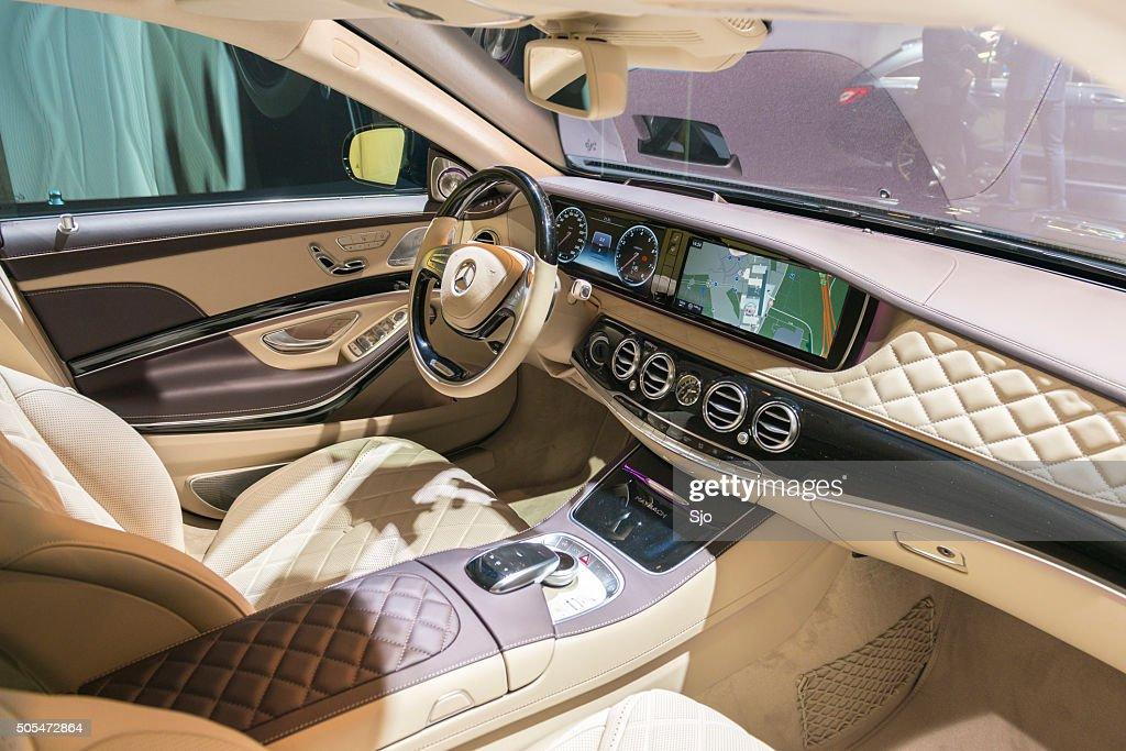 mercedes maybach s500 4matic interior stock photo