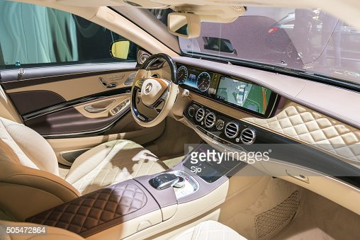 mercedes maybach s500 4matic interior stock photo