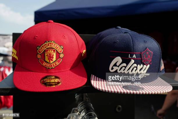 Merchandise on sale prior to the friendly fixture between LA Galaxy and Manchester United at StubHub Center on July 15 2017 in Carson California