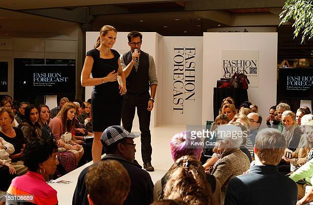 Merchandising and Events Director for Vogue Magazine Anne Vincent and Lawrence Zarian answer questions at Fashion Forecast Presented By Vogue At...