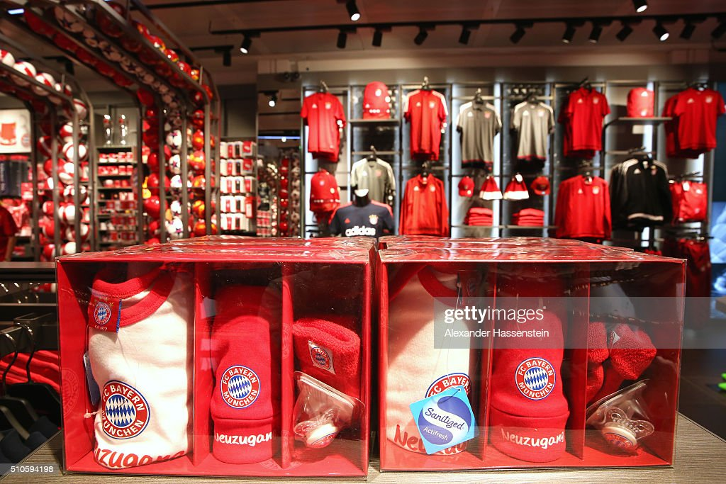 fc bayern muenchen opens new fan shop getty images. Black Bedroom Furniture Sets. Home Design Ideas