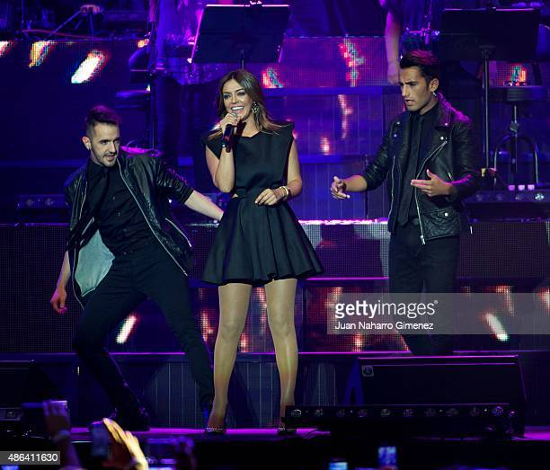 Merche performs on stage during 'Cadena Dial' 25th Anniversary concert at Barclaycard Center on September 3 2015 in Madrid Spain