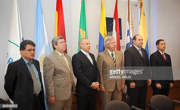Mercosur Economy Ministers of Bolivia Jose Luis Perez Ecuador Ortiz de las Cadenas Brazil Guido Mantega Uruguay Danilo Astori Paraguay Cesar Barreto...