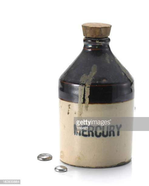 Mercury Bottle with droplets