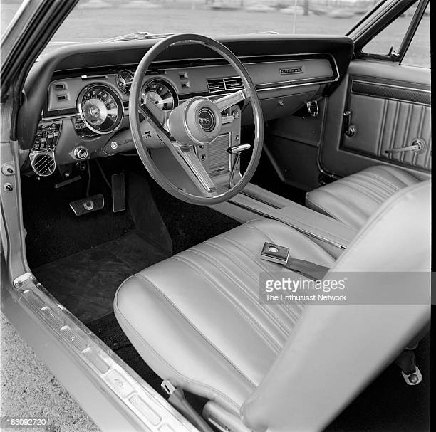 Mercury Cougar GT interior with air conditioning padded dash disc brakes console and floor shiter for automatic transmission