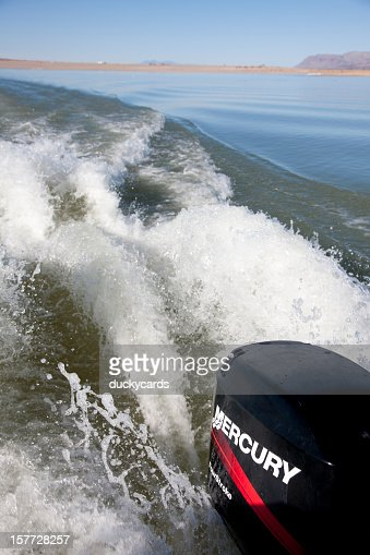 Mercury Outboard Motor Wake at Elephant Butte Lake State Park