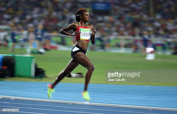 Mercy Cherono of Kenya competes in the Women's 5000m on day 14 of the Rio 2016 Olympic Games at Olympic Stadium on August 19 2016 in Rio de Janeiro...