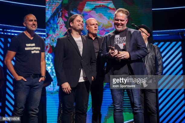 MercyMe receives the Artist of the Year Award during the 48th Annual GMA Dove awards in Allen Arena on October 17 2017 in Nashville TN