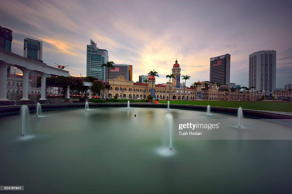 Merdeka Square, Kuala Lumpur with fountain