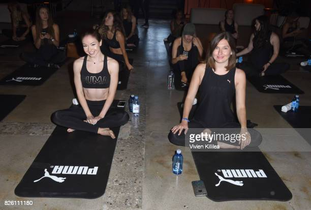 Meredith Foster and Colette Patnaude attend PUMA Hosts CAMP PUMA To Launch Their Newest Women's Collection Velvet Rope at Goya Studios on August 3...
