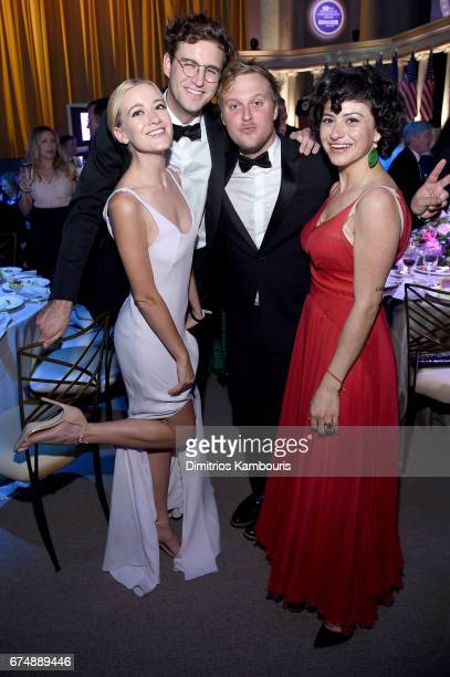 Meredith Hagner John Reynolds John Early and Alia Shawkat attend Frontal With Samantha Bee's Not The White House Correspondents' Dinner at DAR...