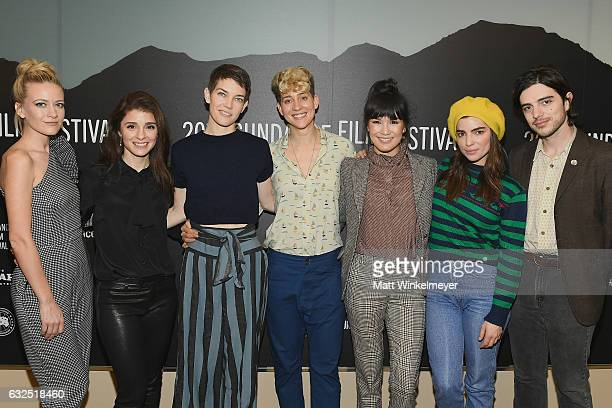 R Meredith Hagner Shiri Appleby Celia RowlsonHall Mia Lidofsky Zoe Chao Angela Timbur and Morgan Krantz attend the Short Form Episodic Showcase at...