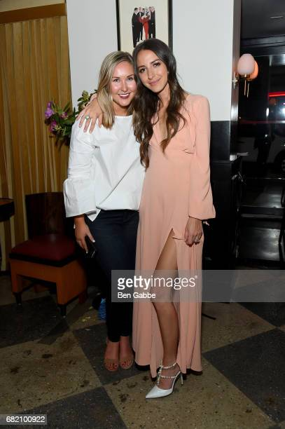 Meredith Hammer and Something Navy Blogger Arielle Charnas attend the Fossil Firsts Dinner Hosted By Something Navy at 33 Greenwich on May 11 2017 in...