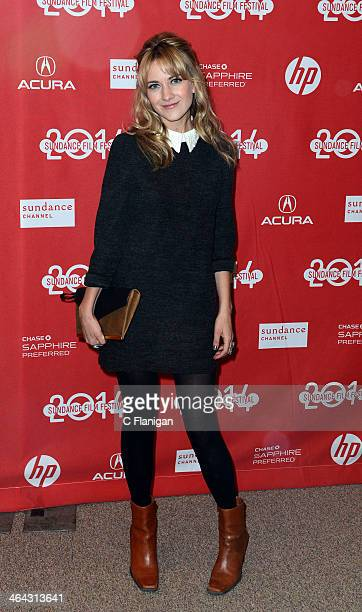 Meredith Hanger attends the 'Hits' premiere at Eccles Center Theatre during the 2014 Sundance Film Festival on January 21 2014 in Park City Utah