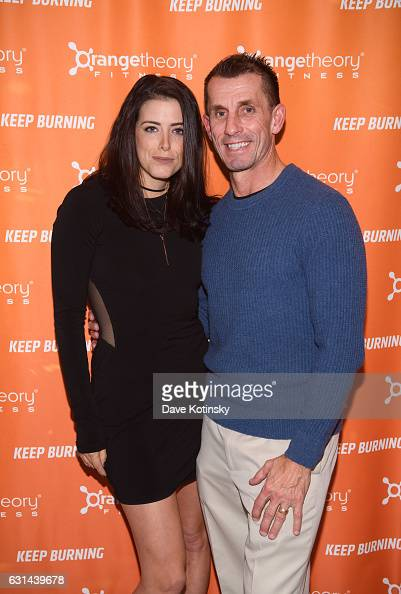 Meredith Koko and John Driscoll arrive at the Orangetheory Fitness VIP Grand Opening Party at Orangetheory Fitness Astor Place on January 10 2017 in...