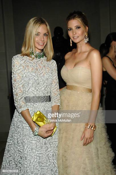 Meredith Melling Burke and Ivanka Trump attend Frick Collection Young Fellows Ball at Frick Collection on February 26 2009 in New York City
