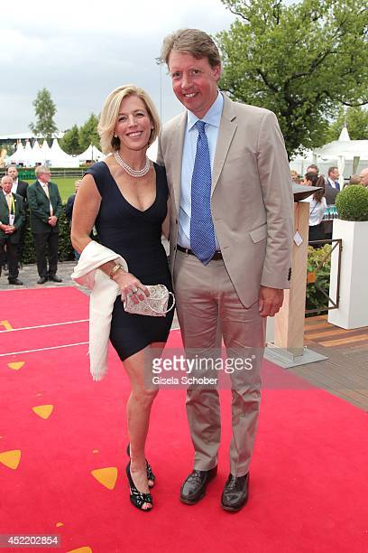 Meredith Michaels Beerbaum and her husband Markus Beerbaum attends the CHIO 2014 media night on July 15 2014 in Aachen Germany