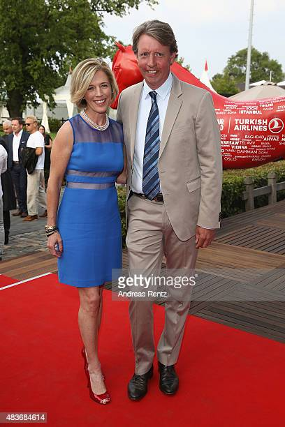 Meredith MichaelsBeerbaum and Markus Beerbaum attend the FEI European Championship 2015 media night on August 11 2015 in Aachen Germany