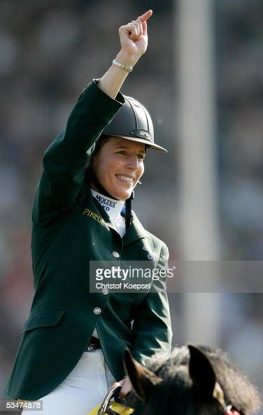 Meredith MichaelsBeerbaum of Germany during the show jumping at the S16 Great Pirce of Aachen during the CHIO Aachen 2005 Grand Prix of Aachen on...