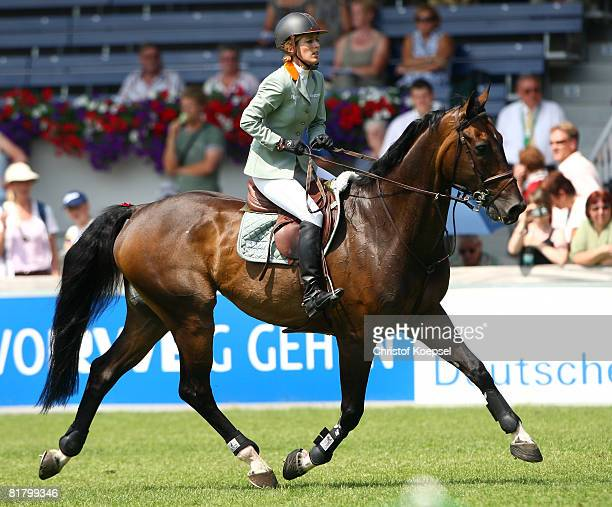 Meredith MichaelsBeerbaum of Germany rides on Checkmate during the Warsteiner prize jumping competition on Day 1 of the CHIO Aachen 2007 on July 02...