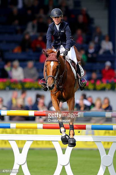 Meredith MichaelsBeerbaum of Germany rides on Tequila de Lile of the SparkassenYoungstersCup competition during the 2015 CHIO Aachen tournament at...