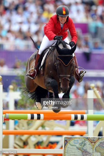 Meredith MichaelsBeerbaum of Germany riding Bella Donna competes in the Individual Jumping Equestrian on Day 12 of the London 2012 Olympic Games at...