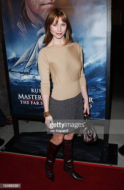 Meredith Monroe during 'Master And Commander The Far Side Of The World' Los Angeles Premiere at The Academy Of Motion Picture Arts And Sciences in...