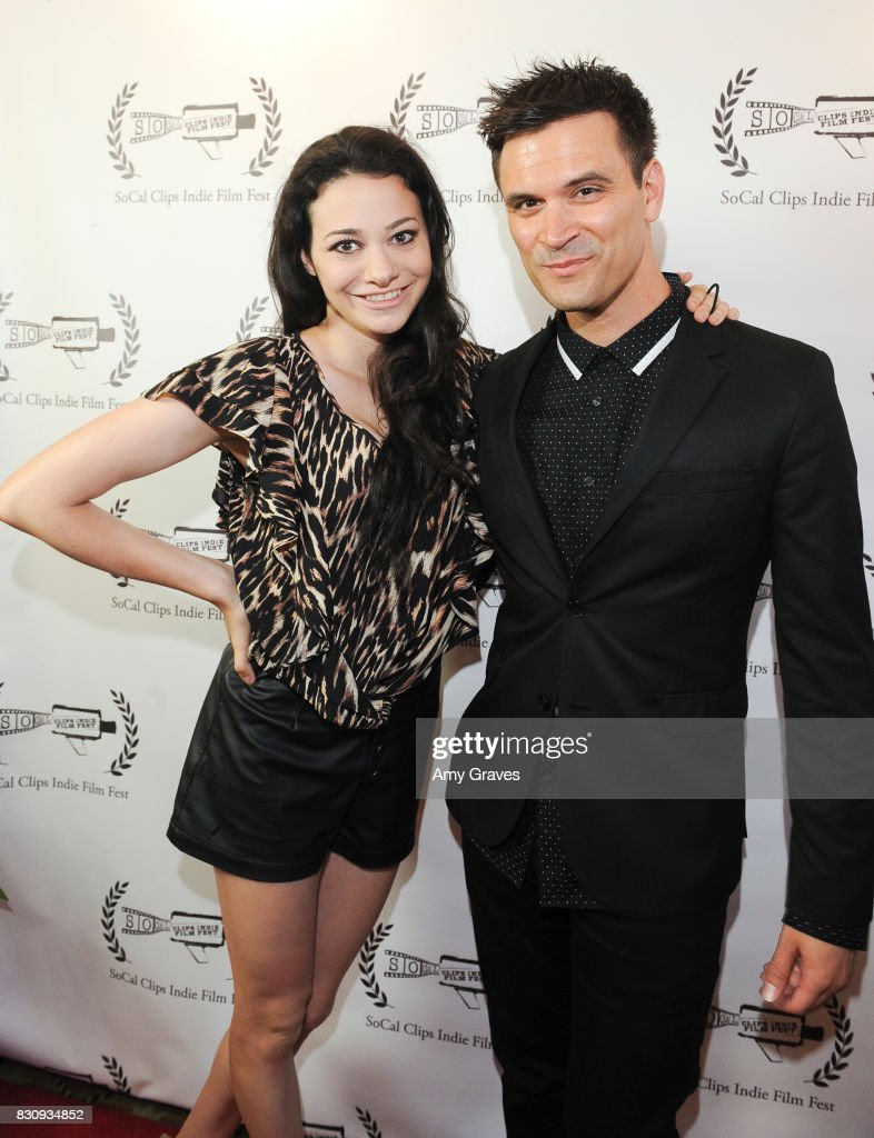 Meredith O'Connor and Kash Hovey attend the Premiere Of 'As In Kevin' At Socal Clips Indie Film Fest on August 12, 2017 in Los Angeles, California.