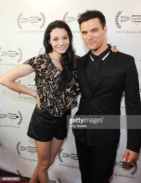 Meredith O'Connor and Kash Hovey attend the Premiere Of 'As In Kevin' At Socal Clips Indie Film Fest on August 12 2017 in Los Angeles California
