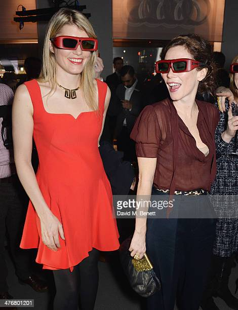 Meredith Ostrom and Anna Friel attend the exclusive UK debut unveiling of the all new Audi TT at Audi City on March 5 2014 in London England
