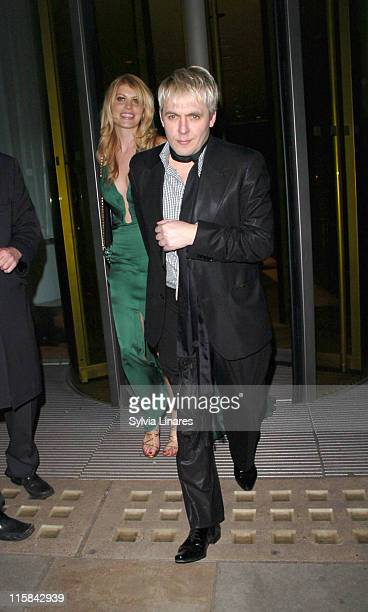 Meredith Ostrom and Nick Rhodes during 'Factory Girl' London Premiere After Party in London Great Britain