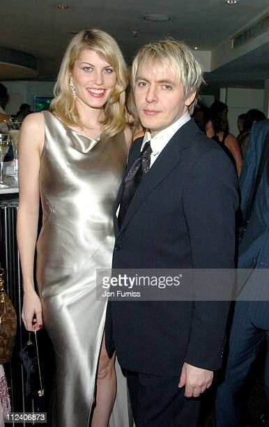 Meredith Ostrom and Nick Rhodes during 'The Aviator' London Premiere After Party Inside at Harvey Nichols in London Great Britain