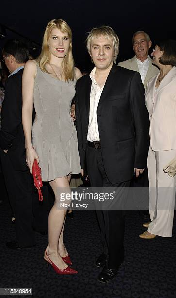 Meredith Ostrom and Nick Rhodes during Tiffany and Co Host Private Screening of 'Sketches of Frank Gehry' for the Launch of the Frank Gehry...