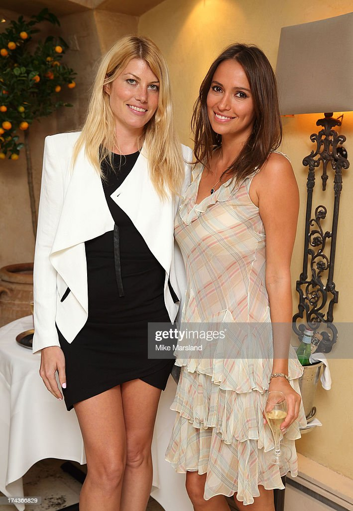 Meredith Ostrom and Sasha Volkova attend Daphne's evening of dinner & dancing at Daphne's on July 24, 2013 in London, England.