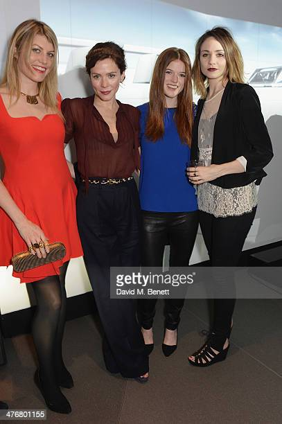 Meredith Ostrom Anna Friel Rose Leslie and Tuppence Middleton attend the exclusive UK debut unveiling of the all new Audi TT at Audi City on March 5...