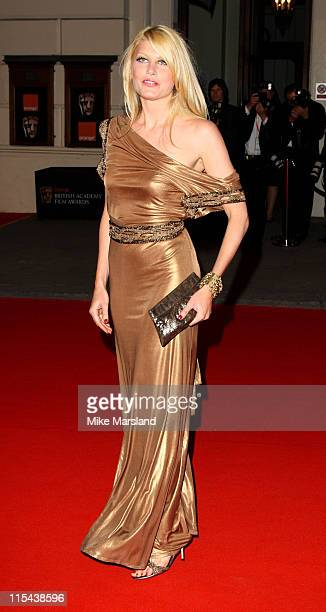 Meredith Ostrom arrives at the Orange British Academy Film Awards 2008 held at the Royal Opera House on February 10 2008 in London England