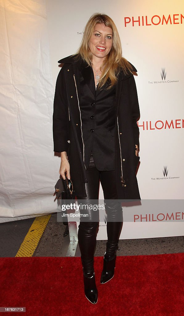 <a gi-track='captionPersonalityLinkClicked' href=/galleries/search?phrase=Meredith+Ostrom&family=editorial&specificpeople=207011 ng-click='$event.stopPropagation()'>Meredith Ostrom</a> attends the premiere of 'Philomena' hosted by The Weinstein Company at Paris Theater on November 12, 2013 in New York City.