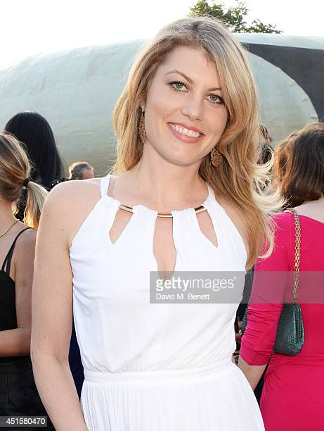 Meredith Ostrom attends The Serpentine Gallery Summer Party cohosted by Brioni at The Serpentine Gallery on July 1 2014 in London England
