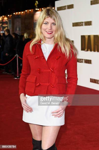 Meredith Ostrom attends the UK Premiere of 'Darkest Hour' at Odeon Leicester Square on December 11 2017 in London England