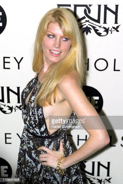 Meredith Ostrom during Edun One Launch Party at Harvey Nicols in London Great Britain