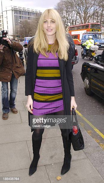 Meredith Ostrom during Giles Deacon and Dima Rashid VIP Designer Lunch Outside Arrivals March 27 2006 at Baglioni Hotel in London Great Britain