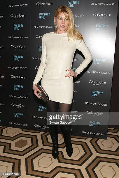 Meredith Ostrom during The Cinema Society and Calvin Klein Host a Screening of 'Factory Girl' Inside Arrivals at Tribeca Grand Screening Room at 2...