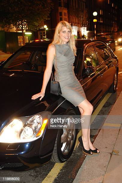 Meredith Ostrom leaning on a Maybach during Maria Grachvogel Hosts a Party to Celebrate the 5th Anniversary of her Sloane Street Store at Sloane...