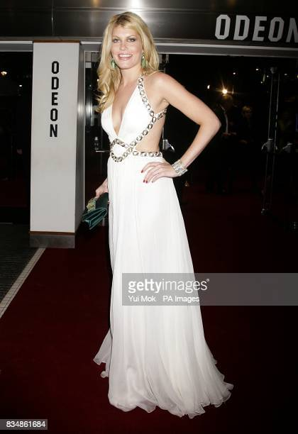 Meredith Ostrum arrives for the World premiere of 'Quantum Of Solace' at the Odeon Leicester Square WC2