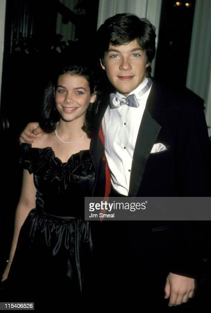 Meredith Salenger and Jason Bateman during Hollywood Press 1986 Lifetime Achievement Awards Dinner at Beverly Hills Hotel in Beverly Hills California...