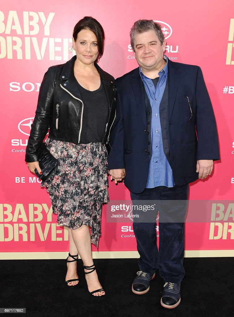Meredith Salenger and Patton Oswalt attend the premiere of 'Baby Driver' at Ace Hotel on June 14, 2017 in Los Angeles, California.