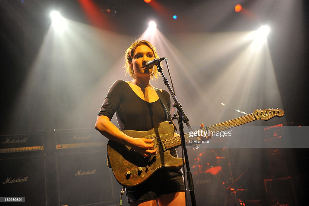 Meredith Sheldon performs on stage at Shepherds Bush Empire on December 12, 2011 in London, United Kingdom.
