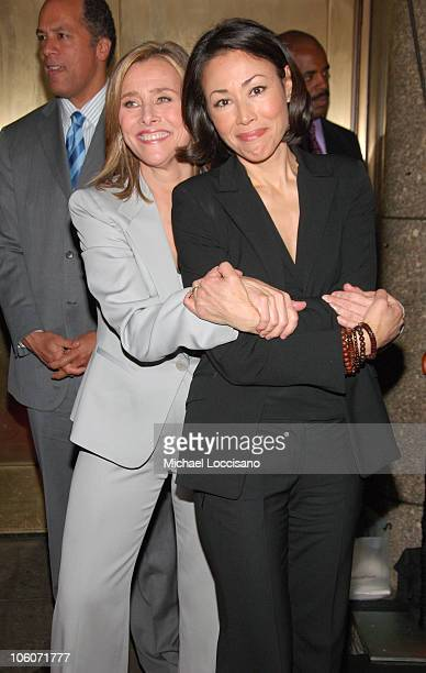 Meredith Vieira and Ann Curry during NBC 20062007 Primetime Upfront at Radio City Music Hall in New York City New York United States