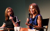 Meredith Vieira and Marlo Thomas attend at Meet The Author Marlo Thomas 'It Ain't Over Till It's Over' at Apple Store Soho on April 21 2014 in New...